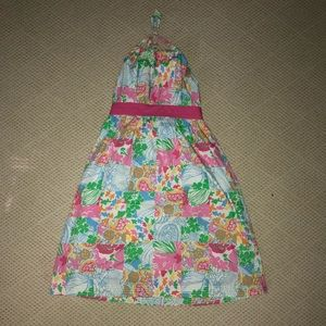 🌴Lilly Pulitzer Girls Halter Tie Dress🌴